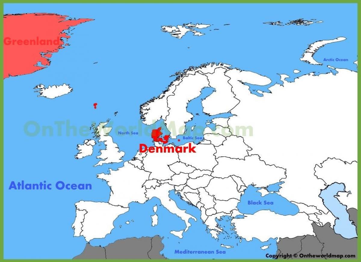 Copenhague mapa europa